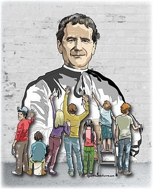 Saint Don Bosco founder of the Past Pupils and Friends of Don Bosco Malta