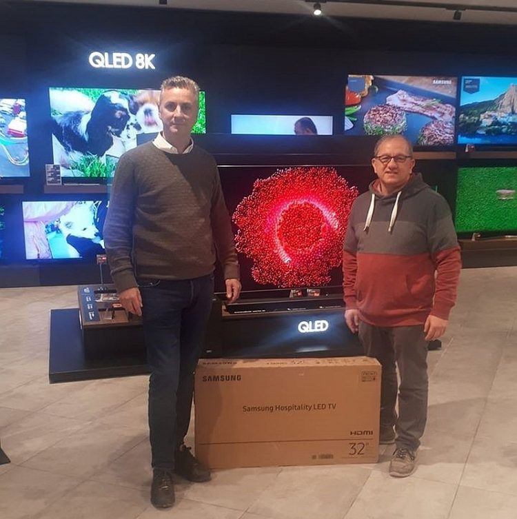 Gift of 3 Hospitality TV Sets to Alberto Marvelli Residence